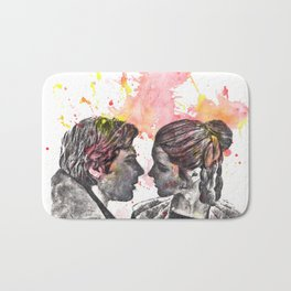 Han Solo and Princess Leia from Star Wars Bath Mat