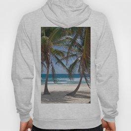Serene Caribean Beach Scene Hoody