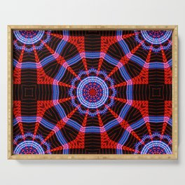 Abstract geometric figure of repetitive shapes. Kaleidoscopic effect Serving Tray