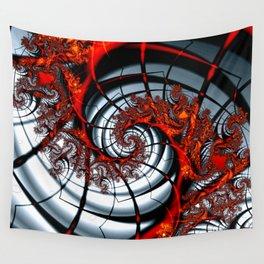Fractal Art - Burning Web Wall Tapestry