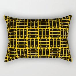 Skateboard Rows Pattern on Orange Rectangular Pillow