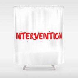 INTERVENTION Shower Curtain