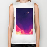 night sky Biker Tanks featuring Night Sky by Erika Draw
