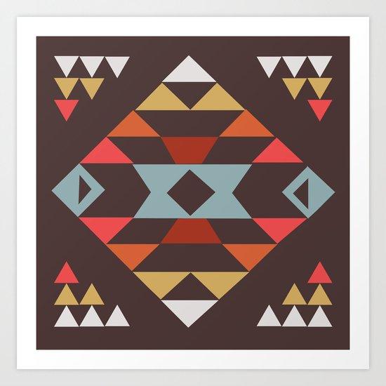 American Native Pattern No. 44 Art Print