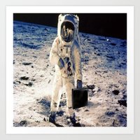 lawyer Art Prints featuring Astronaut lawyer  by Life.png
