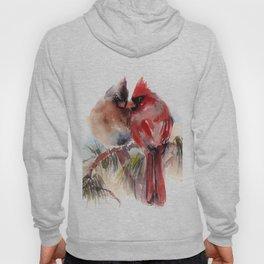 Cardinal Birds Couple Hoody