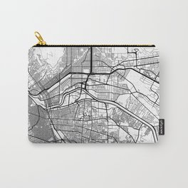 El Paso Map White Carry-All Pouch