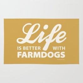 Life is better with farmdog 2 Rug