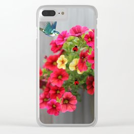Botanical Bliss Clear iPhone Case