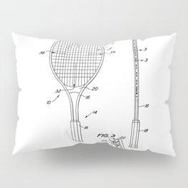 Tennis Racket Patent Pillow Sham