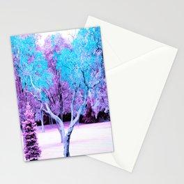 Turquoise Lavender Fantasy Landscape Stationery Cards