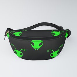 Bug Heads Insect Pattern Black and Neon Green Fanny Pack