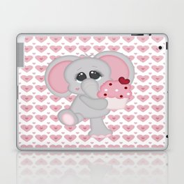 Baby Elephant Loves Cupcakes Laptop & iPad Skin
