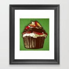 strawberry cake Framed Art Print