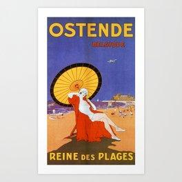 Ostend Queen of beaches jazz age Art Print