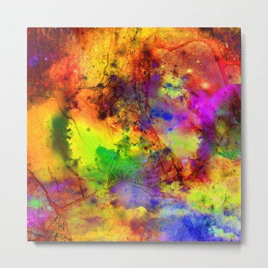 Colorful marble b Metal Print