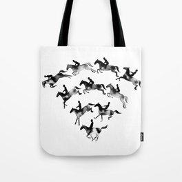 Connected to Showjumping (Black) Tote Bag