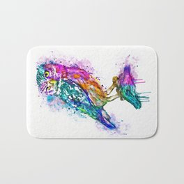Colorful Owl Bath Mat