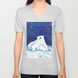 Polar bears, arctic animals Unisex V-Neck
