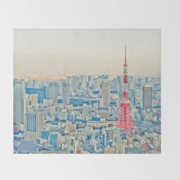 Tokyo tower Throw Blanket