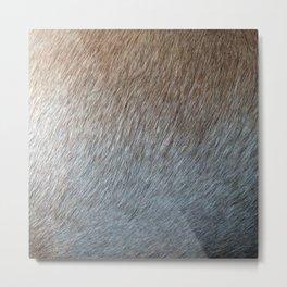 Weimeraner Natural Metal Print