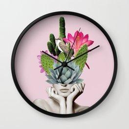 Cactus Lady Wall Clock