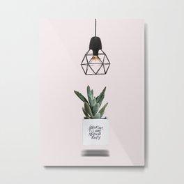 Succulent Minimal Design Metal Print
