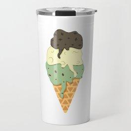 Mint-Vanilla-Chocolate Ice Cream Sundae Travel Mug