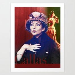 Maria Callas portrait III Art Print