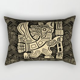Aztec Eagle Warrior Rectangular Pillow
