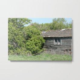 Old Abandoned Barn Falling to Ruin Metal Print