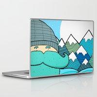 beard Laptop & iPad Skins featuring Blue Beard by  Steve Wade ( Swade)