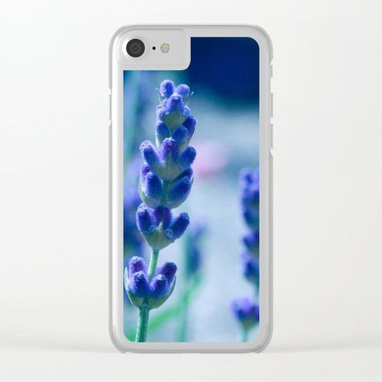 A Touch of blue - Lavender #1 Clear iPhone Case