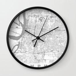 Memphis Map Line Wall Clock