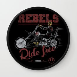 Ride free Rebels Wall Clock