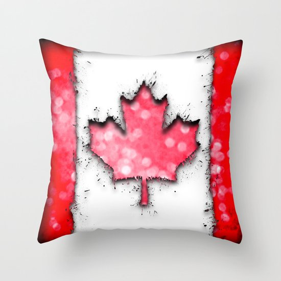 in to the sky, Canada Throw Pillow