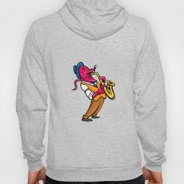 Crawfish Saxophone Player Mascot Hoody