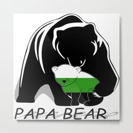 Papa Bear Neutrois Metal Print