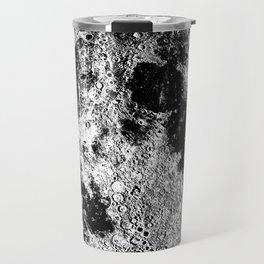 Black + White Full Moon Print, by Christy Nyboer Travel Mug