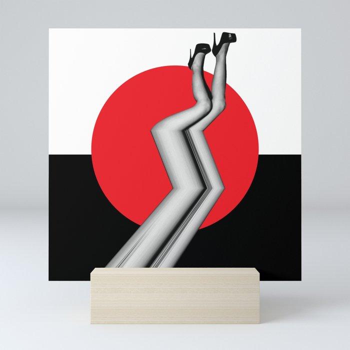 Glitch Legs Mini Art Print