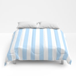 Classic Seersucker Stripes in Blue + White Comforters