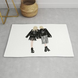 Fashionable Best Friend Holding Hand Rug
