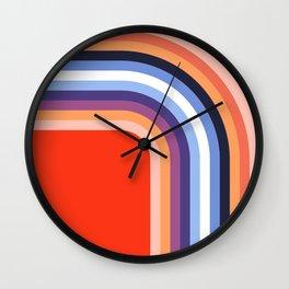 70s Stripes Rainbow 2 Wall Clock