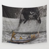 orca Wall Tapestries featuring Orca by Lerson