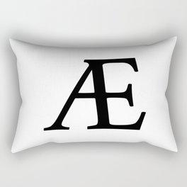AE (Æ) Symbol Rectangular Pillow