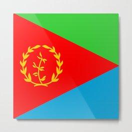 Eritrea country flag Metal Print