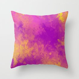 Sponged Painted Colors 5 Throw Pillow