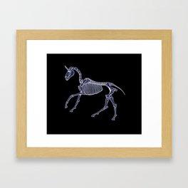 Unicorn Fossil Framed Art Print