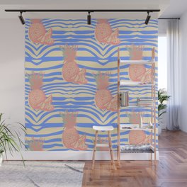 Zebra and pineapple Wall Mural