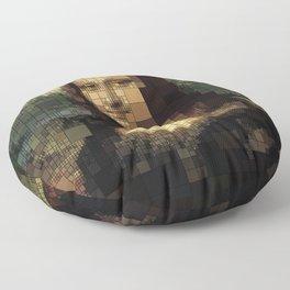 Mona Lisa on tiles Floor Pillow